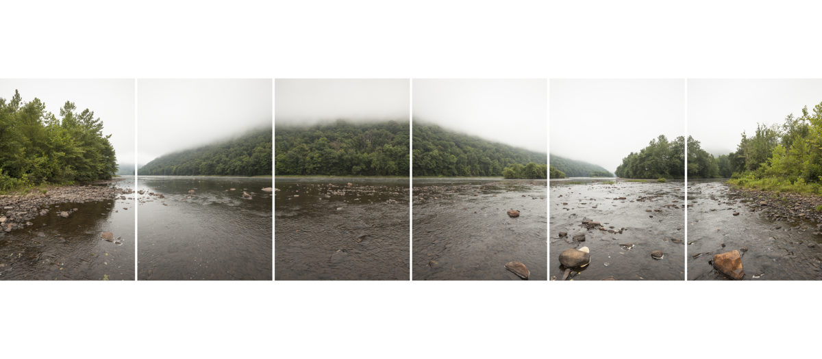 Confluence of the West Branch Susquehanna River and Kettle Creek shrouded in fog
