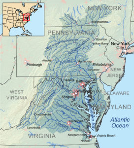 Map of the Chesapeake Bay Watershed